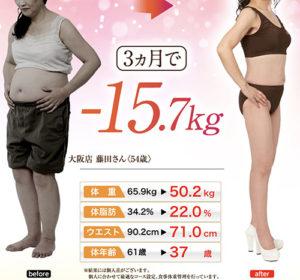 シーズラボのダイエットモニター写真